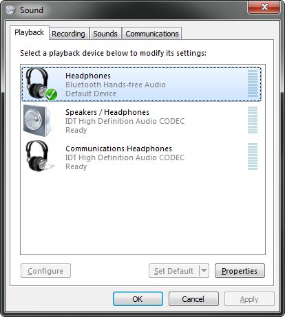 Connecting Jabra HALO2 Bluetooth Headset with Windows 7