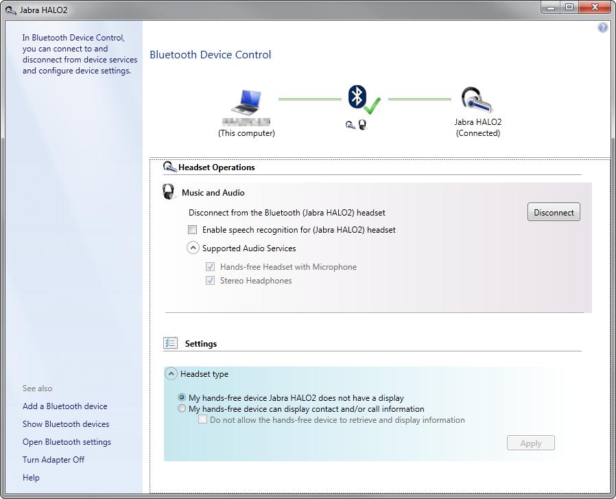 Jabra bt150 driver Windows 7
