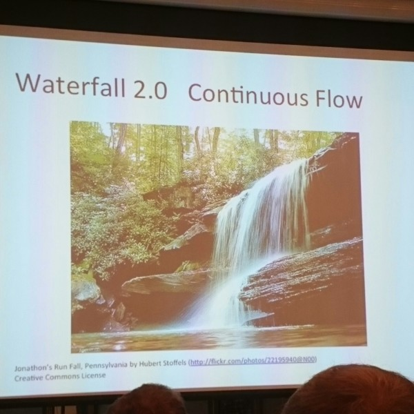 Continuous flow of waterfall