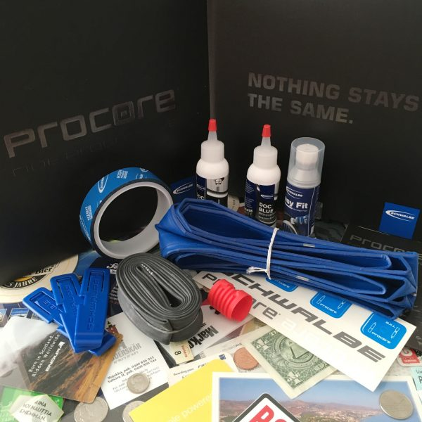 Half of the Schwalbe Procore kit